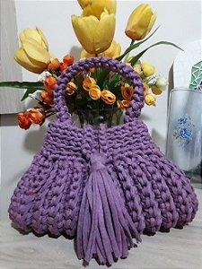 Bolsa Crochê -Coleção Cindy - Fio de Malha