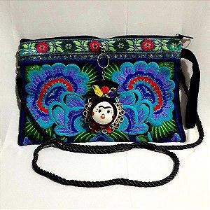 Bolsa Carteira - Frida - Bordada