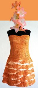 Vestido Tomara-que-caia P (cor salmão)