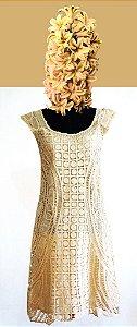 Vestido M (cor bege)