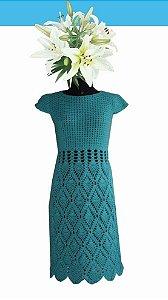 Vestido Safira (crochê). Veste tamanho 40/42. Obs: os acessórios não acompanham