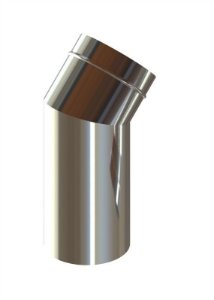 Curva 150mm 45 Comp. 300mm Inox