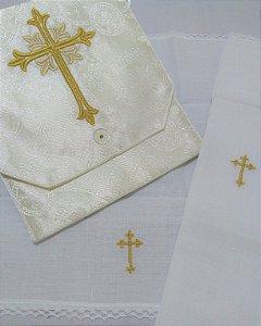Kit Viático ou kit ministro para levar a Santa Eucaristia para enfermos - Cruz GD MF