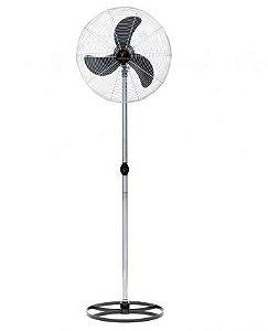 Ventilador de Coluna 65 cm Preto com Grade Em Pintura Epóxi Cromada-VENTISILVA