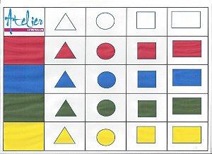 Formas Geométricas / Cores     Quadro 2 entradas