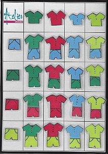 Roupas em cores básicas    Quadro 2 entradas
