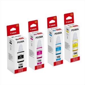 Kit Canon Original 4 tintas Pixma GI-190 G1100 G2100 G3100 G4100
