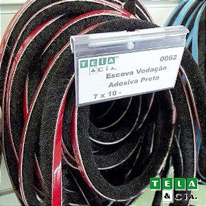 Escova de Vedação - 7 X 10 mm - Por Metro
