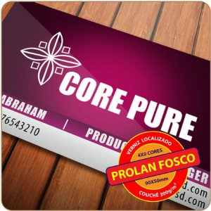 Cartão Prolan com Verniz Localizado - 4X0
