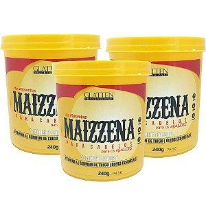 Maizzena Para Cabelos Glatten Professional Creme Alisante 240g