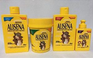 Kit Alisena Amido de Milho Shampoo Condicionador Máscara 500g e Finalizador - Muriel