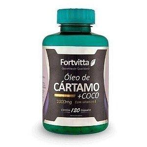 Óleo de cártamo + côco-120 cápsulas- Fortvitta