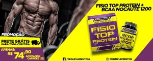 FISIO TOP PROTEIN 900G+ BCAA NOCAUTE 60 TABLETES- FISIONUTRI