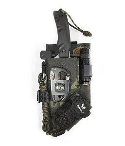Kit Tático Punisher Bushcraft Survival  8 Itens Mais Boné Camuflado