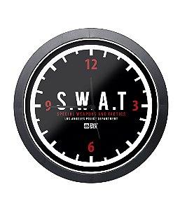 Relógio Militar de Parede SWAT Preto