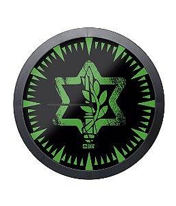 Relógio de Parede Israel Defense Preto