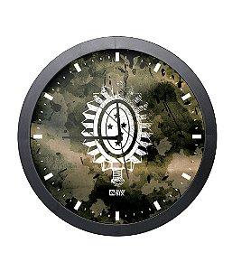 Relógio de Parede Exército Brasileiro Preto