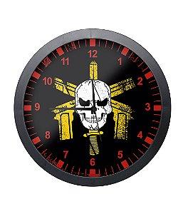 Relógio de Parede BOPE Preto