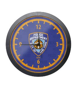 Relógio de Parede Police NYPD Preto