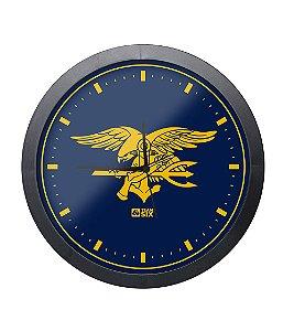 Relógio de Parede Navy Seals Preto
