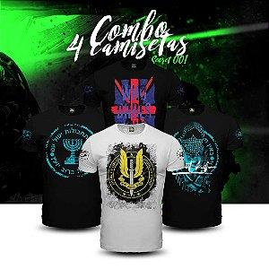 Combo 4 Camisetas Militares Secret Box 01
