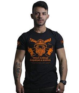 Camiseta Militar Bombeiros Vidas Alheias Riquezas a Salvar