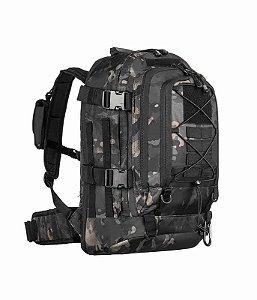 Mochila Militar Invictus Tática Duster Camuflado Multicam Black