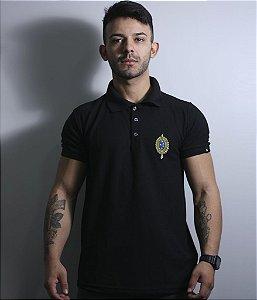 Camiseta Gola Polo Masculina Exército Brasileiro Bordada Team Six