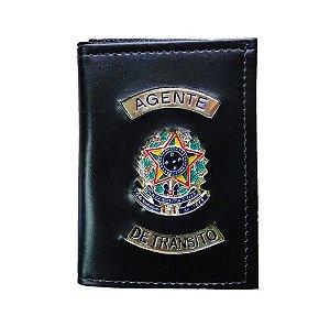Carteira Militar Agente De Transito Com Porta Funcional