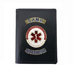 Carteira Militar SAMU Com Porta Funcional