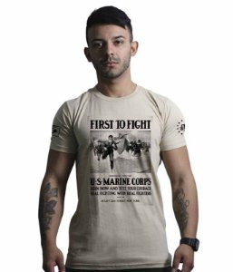 Camiseta To Fight U.S Marines Corps