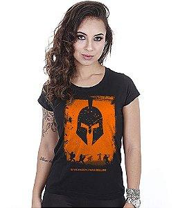 Camiseta Militar Baby Look Feminina Si vis Pacem Para Bellum
