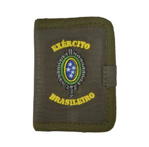 Carteira Exército Brasileiro Com Velcro Bordada