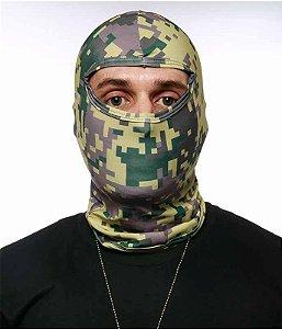 Balaclava Tatica Militar Camuflada Digital Acu Em Dry Fit Operações especiais