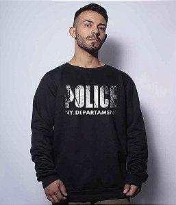 Casaco Básico de Moletom Police NYPD