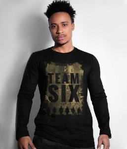 Camiseta Manga Longa Team Six Military Wear