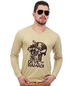 Camiseta Manga Longa Devil Of Ramadi Tribute Chris Kyle