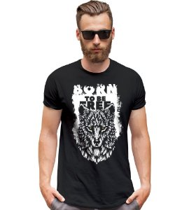 Camiseta Outdoor Wolf Born to be Free