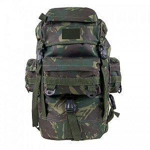 Mochila Mini PQD Bravo Militar Camuflado EB