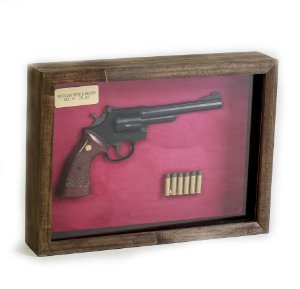Quadro Retro Revolver Smith & Wesson Mod. 19 Calibre 357