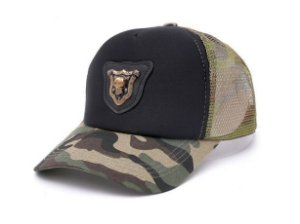 Boné Trucker Militar Camuflado Caveira Team Six Exclusivo