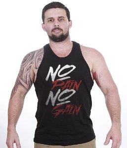 Camiseta Regata Academia No Pain No Gain