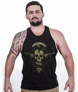 Camiseta Regata Militar Guns And Roses Exclusiva Team Six