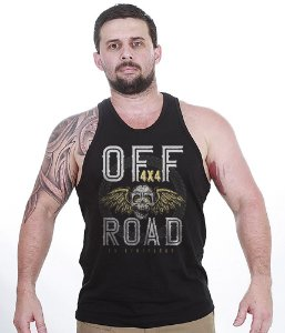 Camiseta Regata Off Road 4x4 Skull Fly