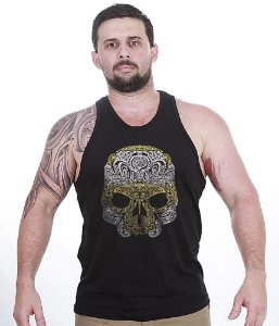 Camiseta Regata Outdoor Skull Marine