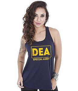 Camiseta Regata Militar Feminina DEA Special Agent
