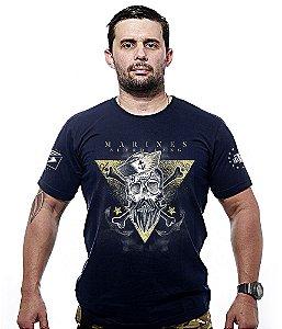 Camiseta Militar Marines Beard Gang