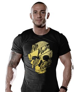 Camiseta Academia No Pain No Gain Gold Skull