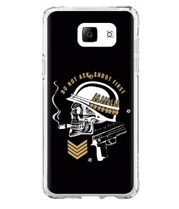 Capa para Celular Militar Do Not Ask, Shoot First