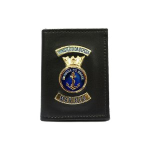 Carteira Ministério da Defesa Marinha Com Distintivo e Porta Funcional